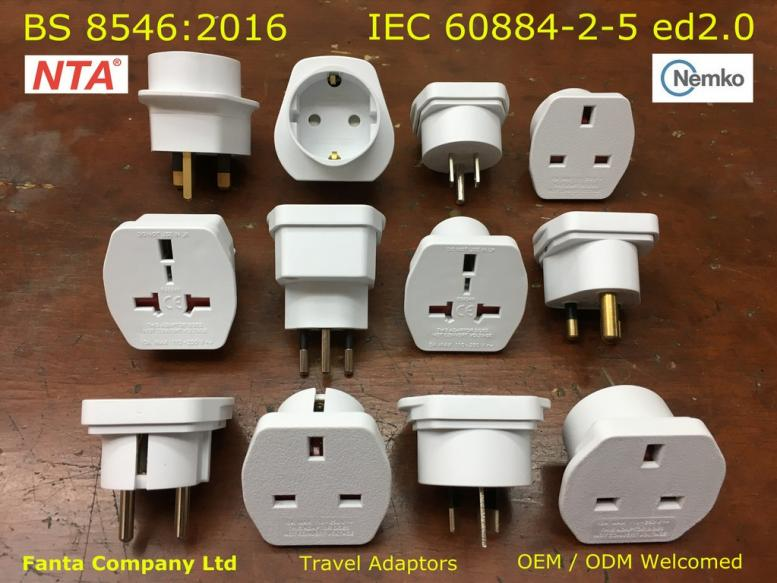 BS8546 Travel Adaptors
